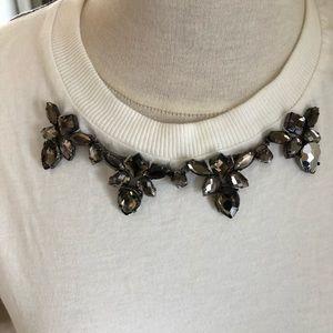 Zara embellished shirt with plaid back
